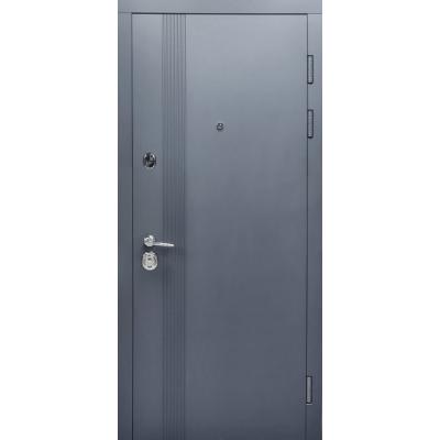 Двери Булат Магнат модель 172 Графит матовый/белый супермат