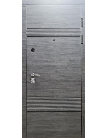 Двері Булат Магнат модель 518 Венге горизонт сірий