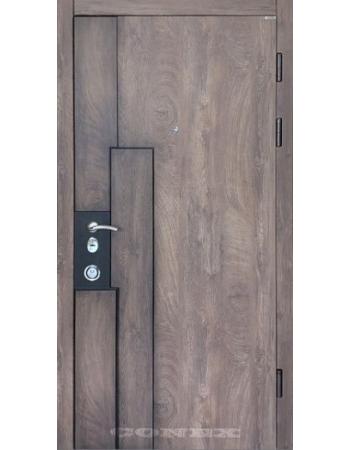 Двери Конекс - Модель 103 спил дерева коньячный