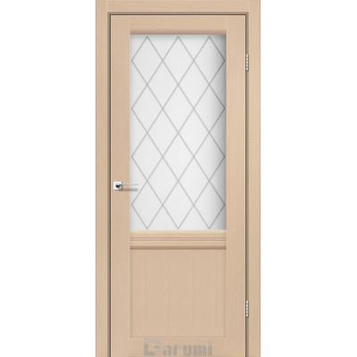 Межкомнатные двери ТМ DARUMI модель GALANT GL-01 со стеклом сатин