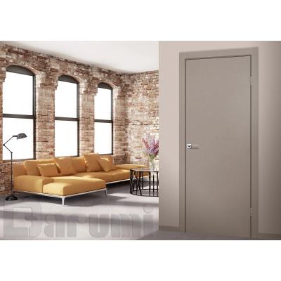 Межкомнатные двери ТМ DARUMI модель PLATO глухие + алюминиевый торец