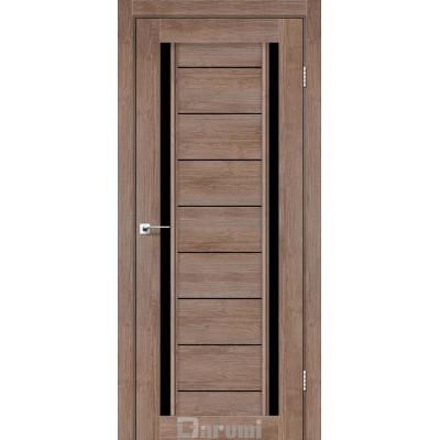 Межкомнатные двери ТМ DARUMI модель MADRID с черным стеклом