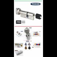"""Цилиндр """"TOKOZ"""" PRO 300 80mm (40*40T) (ключ / тумблер)"""