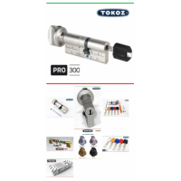 "Цилиндр ""TOKOZ"" PRO 300 75 мм (30*45T) (ключ / тумблер)"