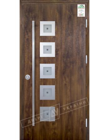 Вхідні двері Модель №2 ручка скоба (вулиця) серії GRAND HOUSE 73