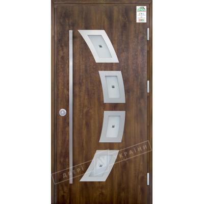 Вхідні двері серії GRAND HOUSE 73 Модель №5 ручка скоба (вулиця)