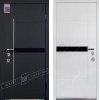 Вхідні двері Еліс серія Інтер 5 з замком Mottura біла всередині