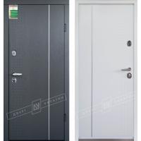 Входные двери Леон 1 серия БС замки KALE белая внутри