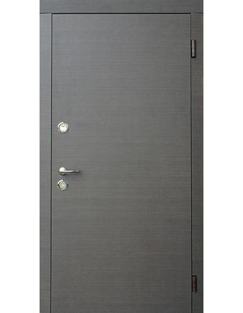 Двери входные Форт Трио Гладь венге серый
