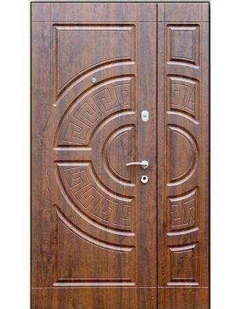 Двери полуторные Форт Греция улица Премиум дуб темный
