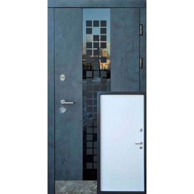 Двері Форт М Тріо Сіті бетон антрацит / біла