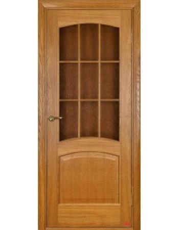 Распродажа межкомнатных дверей Капри 3 ПО под стекло дуб