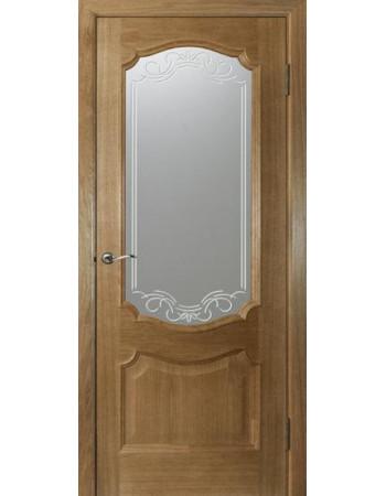 Распродажа межкомнатных дверей Престиж ПО под стекло Орех