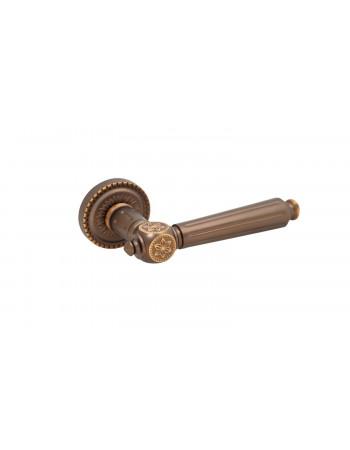 Ручки дверные Rich-Art R15H 304 YB коричневая бронза