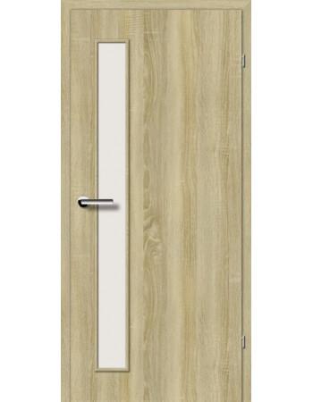 Двери Стандарт 2.2 Брама беленый дуб стекло Сатин