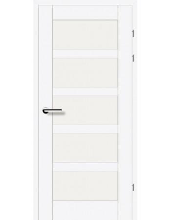 Двери 19.85 EuroDoors Брама белый л.д. стекло Сатин