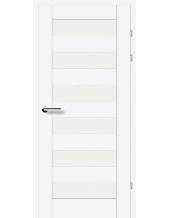 Двери 19.46 EuroDoors Брама белый л.д. стекло Сатин