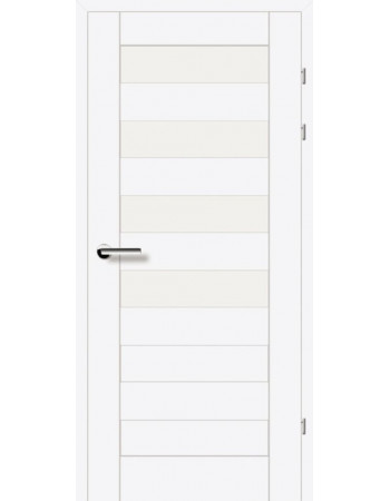 Двери 19.44 EuroDoors Брама белый л.д. стекло Сатин