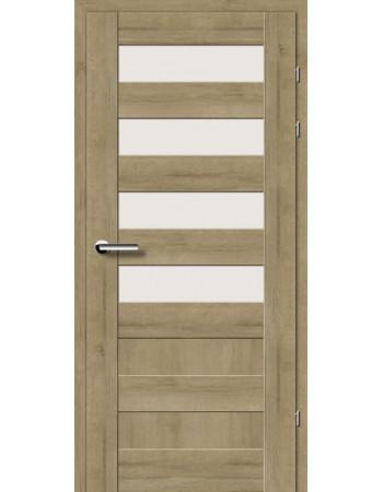 Двери 19.44 EuroDoors Брама дуб натуральный стекло Сатин