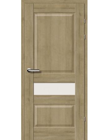 Двери 19.54 Брама дуб натуральный стекло Сатин