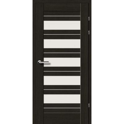 Двери 19.5 Брама черный дуб стекло Сатин