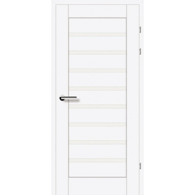 Двери 19.31 EuroDoors Брама белый премиум стекло Сатин