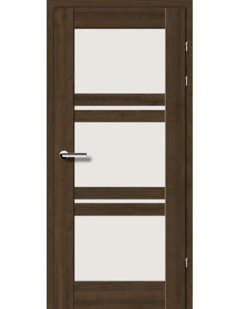 Двери 19.82 Брама мокка стекло Сатин