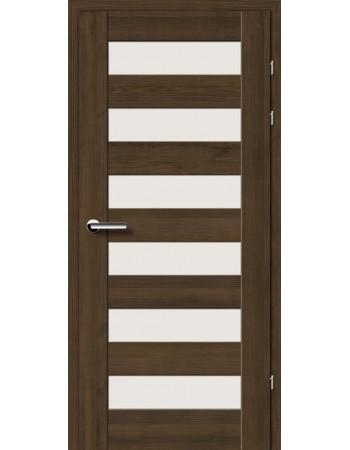 Двери 19.46 Брама мокка стекло Сатин