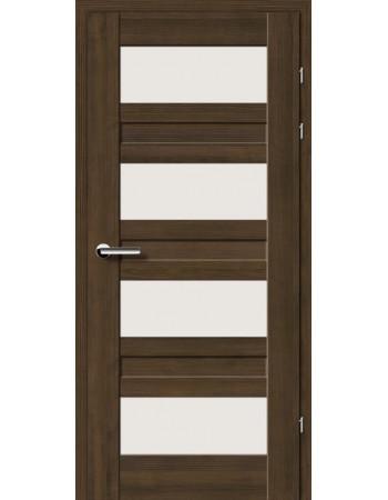 Двери 19.3 Брама мокка стекло Сатин