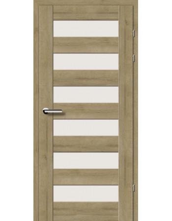 Двери 19.46 EuroDoors Брама дуб натуральный стекло Сатин