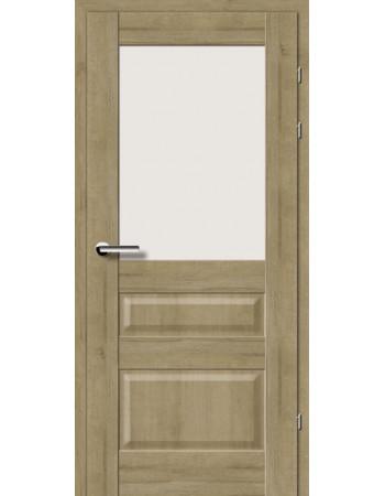 Двери 19.51 Брама дуб натуральный стекло Сатин