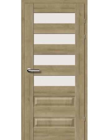 Двери 19.44 Брама дуб натуральный стекло Сатин