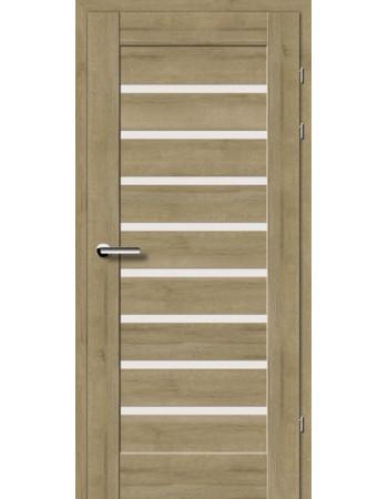 Двери 19.31 EuroDoors Брама дуб натуральный стекло Сатин
