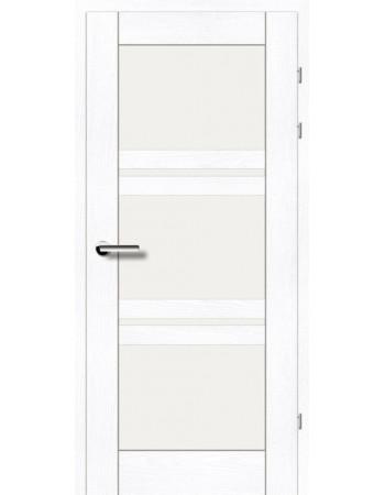 Двери 19.82 Брама ясень альпийский стекло Сатин