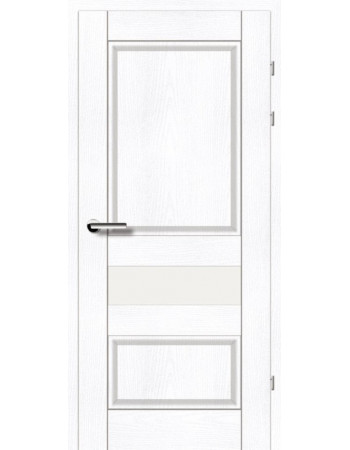 Двери 19.54 Брама ясень альпийский стекло Сатин
