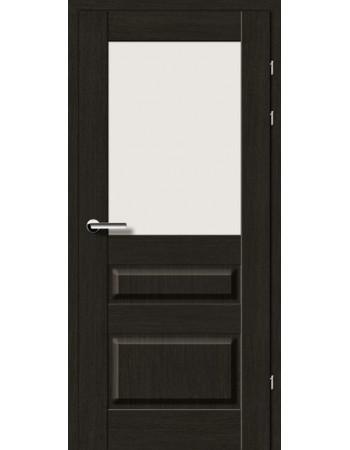 Двери 19.51 Брама черный дуб стекло Сатин