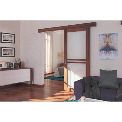 Комплект фурнитуры Slido Classic 50-P, весом дверного полотна до 50 кг с ходовой шиной, алюминий без покрытия