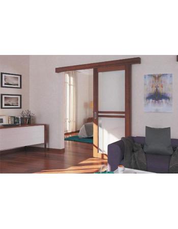 Комплект фурнитуры Slido Classic 80-P, весом дверного полотна до 80 кг с ходовой шиной, алюминий без покрытия