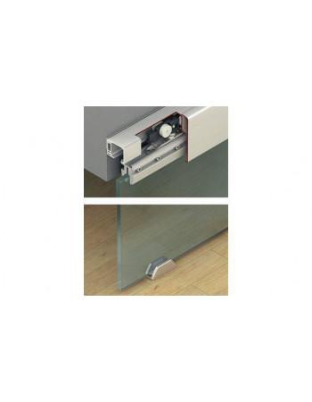 Шина ходовая одинарная 31х33мм алюминий без покрытия 3.0м с отверстиями