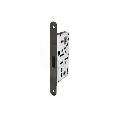 Комплект магнитного замка с планкой и шурупами WC 18х196мм черный матовый 8/6мм