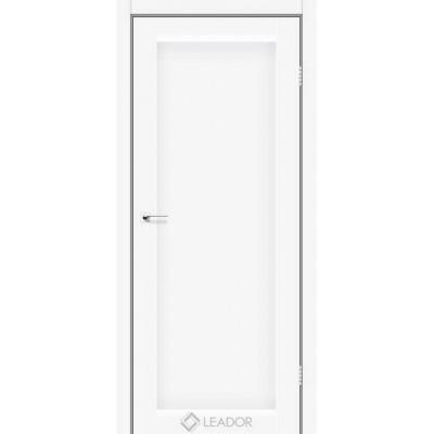 Межкомнатные двери Leador модель Bavaria белый матовый глухое полотно