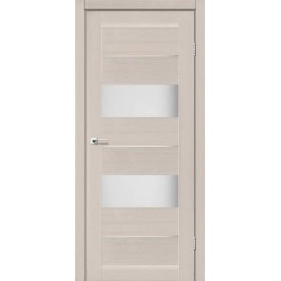 Межкомнатные двери Leador модель Arona дуб латте со стеклом сатин
