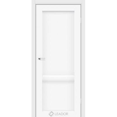 Межкомнатные двери Leador модель Laura LR-02 белый матовый глухое полотно