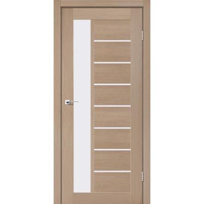 Межкомнатные двери Leador модель Lorenza дуб мокко со стеклом сатин