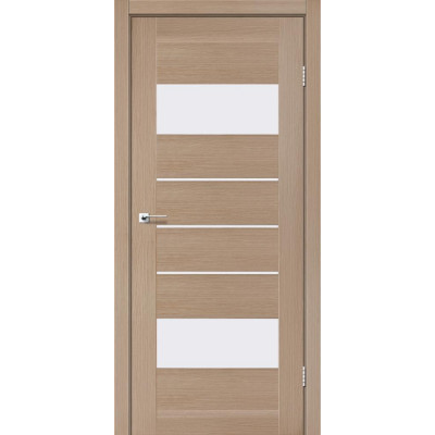 Межкомнатные двери Leador модель Arona дуб мокко со стеклом сатин
