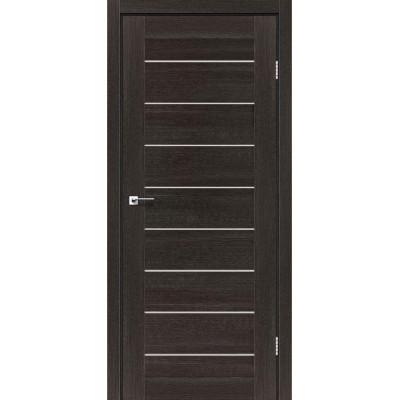 Межкомнатные двери Leador модель Neapol Дуб саксонский со стеклом сатин