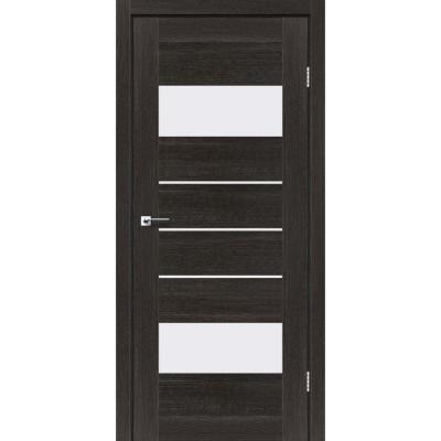 Межкомнатные двери Leador модель Arona дуб саксонский со стеклом сатин