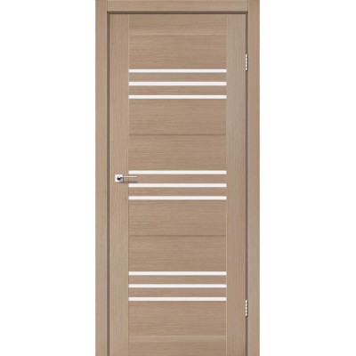 Межкомнатные двери Leador модель Sovana Дуб мокко со стеклом сатин
