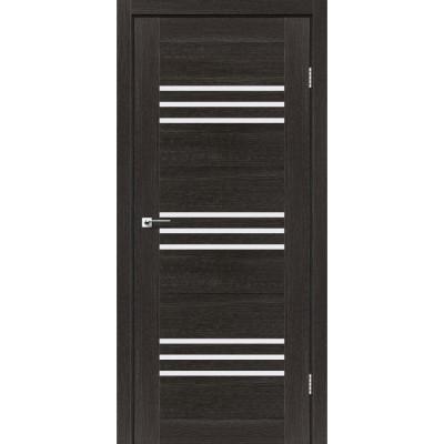 Межкомнатные двери Leador модель Sovana дуб саксонский со стеклом сатин