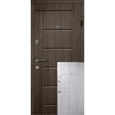 Двері Магда 116 Еліт Тип-13 Венге темний / Білий супермат